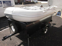 Europa Inflatable Dinghy and Trailer