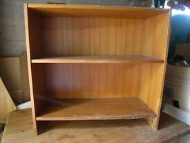 Small 2 shelf solid wood bookcase