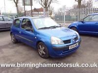 2005 (54 Reg) Renault Clio 1.4 16V EXPRESSION AUTOMATIC 3DR Hatchback BLUE