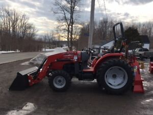 Massey Ferguson 49hp Tractor & Loader - DEMO FORESTRY PACKAGE!