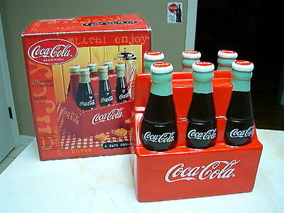 COCA COLA COKE  SIX  PACK  COOKIE JAR -  NIB - RETIRED ITEM