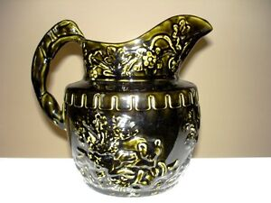 1904 ARTHUR WOOD Hound Dog Handle Pitcher STUNNING England