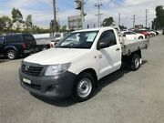 2014 Toyota Hilux TGN16R MY14 Workmate White 5 Speed Manual 2D CAB CHASSIS Greystanes Parramatta Area Preview