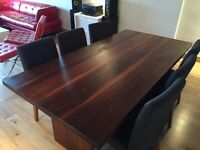 walnut dining table and 6 next chairs