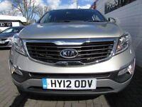 KIA SPORTAGE 2.0 CRDI KX-3 5d 134 BHP (silver) 2012