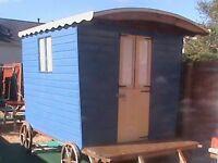 Shepherds Hut 10ft x 8ft Garden Room, Underlay, Flooring, Painted, Treated, Sofa, Blinds £650