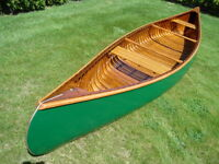 16' Greenwood Prospector Special vintage wood canvas canoe