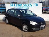 VOLKSWAGEN POLO 1.4 S 5d 79 BHP A LOW PRICE 5DR FAMILY HATCHBACK (black) 2007