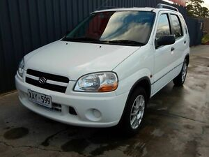 2004 Suzuki Ignis RG413 GL White 4 Speed Automatic Hatchback Blair Athol Port Adelaide Area Preview
