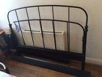 Ikea Metal King size bed frame (black)