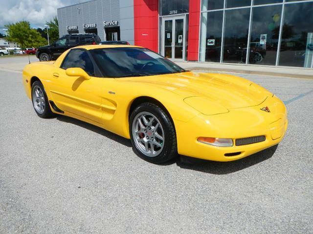 2002 yellow corvette z06 for sale daphne alabama dealer. Black Bedroom Furniture Sets. Home Design Ideas