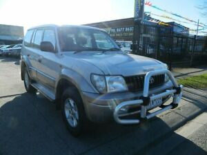 2001 Toyota Landcruiser Prado VZJ95R GXL (4x4) Silver 4 Speed Automatic 4x4 Wagon Williamstown North Hobsons Bay Area Preview