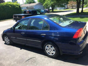 Honda civic 2005 bleu