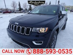 2017 Jeep Grand Cherokee 4WD LIMITED Leather,  Heated Seats,  Ba