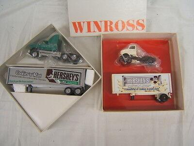 Winross Hershey's Cookies 'n' Mint & Cookies n Cream Lot of 2 Trucks Diecast - Cookies N Cream Hershey's