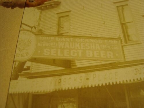 Circa 1900 Milwaukee Corner Bar, Waukesha Beer Signs, Wisconsin