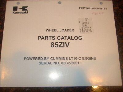 Kawasaki 85zii Wheel Loader Parts Manual