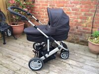 Mamas & Papas Zoom Travel System with Rain Cover, Footmuff and Parasol