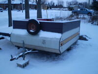 SOLID 7 x 9 FOOT UTILITY TRAILER WITH NEW LIGHTS