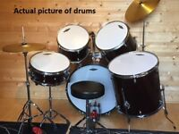 Classic Cantabile Session Semi Drum Set with Cymbals, Seat and EXTRAs