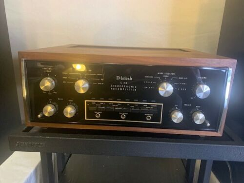 Vintage Mcintosh C28 Stereo Preamplifier Panloc Case Cabinet, Very Good