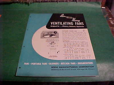 MID CENTURY INDUSTRIAL 1955 ARCHITECTS SWEETS CATALOG BROCHURE BERNS VENT FANS