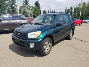 2002 Toyota RAV4 4WD, ONE OWNER, NO ACCIDENTS, ONLY 177000 km