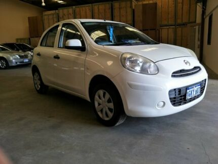 2013 Nissan Micra K13 MY13 ST White 5 Speed Manual Hatchback Malaga Swan Area Preview
