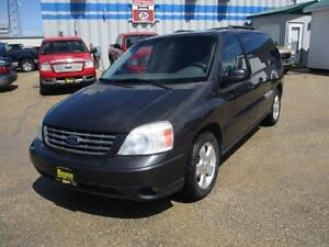 2007 FORD FREESTAR SPORT, DVD, LEATHER SAFETY AND WARRANT $5,950