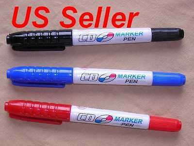 Lot Of 3 Cd Dvd Twin Tip Best Markers Red Blue Black Us Seller