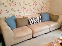 Leather Modular Sofa-priced for quick sale