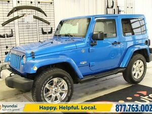2015 Jeep Wrangler SAHARA 4X4/NAV/LEATHER/HEATED SEATS/HARD TOP