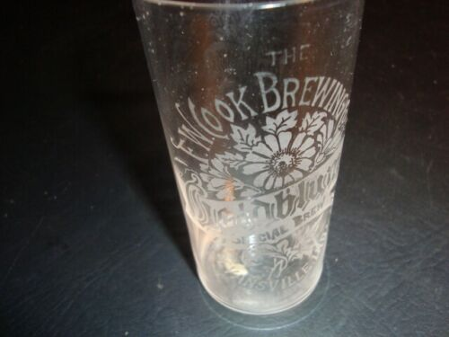Circa 1910 Cook's Goldblume Etched Glass, Evansville, Indiana