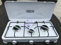 3 Burner Camping Cooker Gas Stove New Unused White Enamel