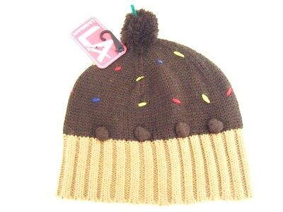 LA Gear Broiwn Chocolate cup cake Muffin Pudding hat Age 7 - -