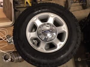 "REDUCED!!! ADVENTURO AT3 RADIAL TIRES & 17"" FORD SUPER DUTY RIMS"
