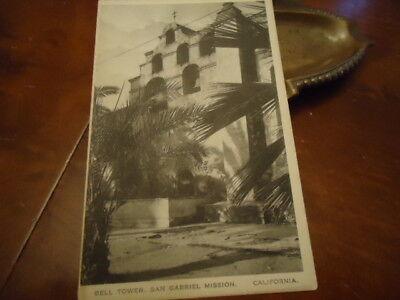 1925 Bell Tower San Gabriel Mission California Postcard