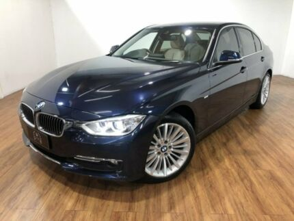 2014 BMW 320d F30 MY1114 Luxury Line Blue 8 Speed Sports Automatic Sedan Kingsgrove Canterbury Area Preview