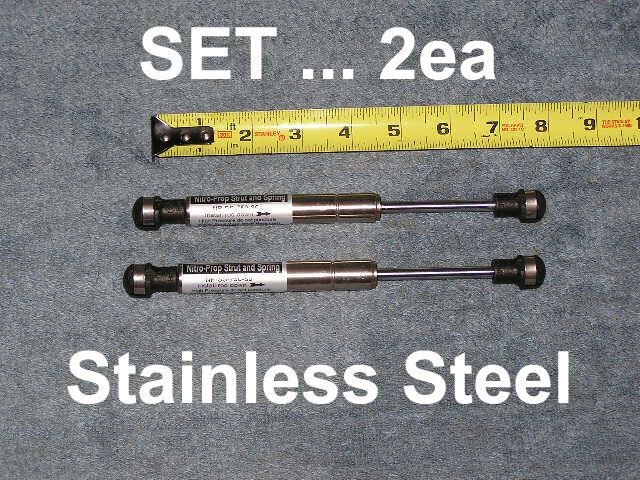 "2ea Stainless 7.5"" 80# RV Camper Trailer Marine Gas Strut Shock Spring Lift Ram"