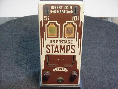 Vintage Stamp Machine w/ Porcelain Front - Complete - Works - 1940s-1950s Stamps