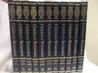 VINTAGE. 11 VOLUMES OF 20 CHILDREN'S BRITANNICA, 1973 REVISED 1978, BLUE COVERS. GOOD TO DISPLAY