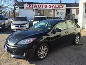 2012 MAZDA3 GT/Leather/Roof/BlueTooth/Loaded/Certified