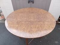 BEAUTIFUL VINTAGE DROP LEAF FORMICA DINING TABLE