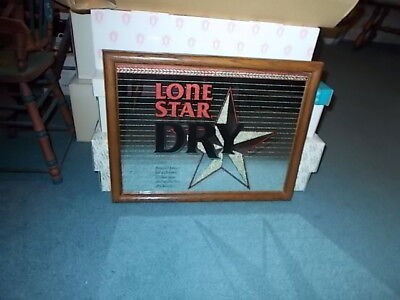 RARE LONE STAR DRY BEER MIRROR - THE NATIONAL BEER OF TEXAS - 12 X 13