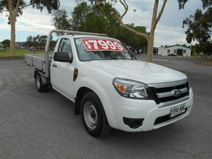 2010 Ford Ranger PK XL (4x2) White 5 Speed Manual Cab Chassis