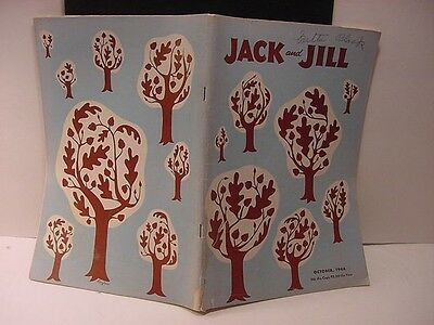 Vintage HALLOWEEN Magazine:JACK AND JILL-Oct 1946 w/Wrap Cover of Autumnal Trees