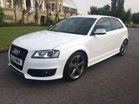 2012 Audi S3 Black edition 2.0 TFSI 38,000 miles in white superb car