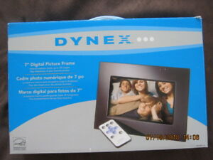 "DYNEX 7"", digital picture frame,with remote,bought new..."