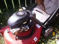 Gas mower with bag