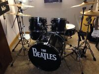 drum kit with double kick sabian b8 cymbals